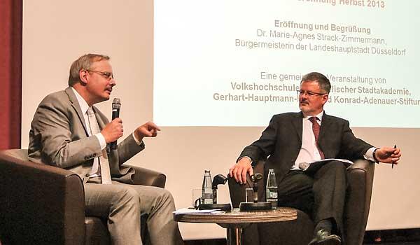 Dr. Dietrich Knapp im Gespräch mit Prof. Christopher Clark