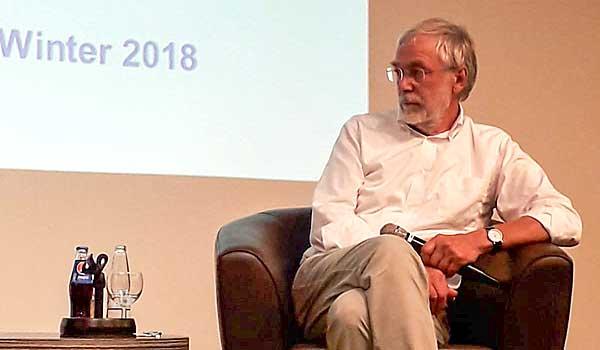 Hirnforscher Prof. Gerald Hüther bei der Semestereröffnung im September 2018